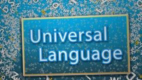 Numera il solo ciclo di lingua universale 4K stock footage