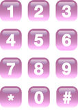 Numera los botones Fotos de archivo
