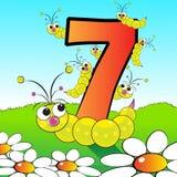Numera o serie para os miúdos - #07 ilustração do vetor