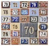 Numera 70s Fotografie Stock Libere da Diritti