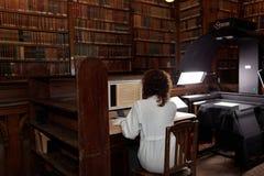Numeración de la colección única de biblioteca científica de la universidad de St Petersburg foto de archivo libre de regalías