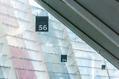 Numeración de los asientos del estadio en el estadio Olímpico imágenes de archivo libres de regalías