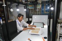Numeración de manuscritos antiguos fotografía de archivo