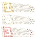 Numerado, dois, bandeira da seta de três copyspace etiqueta Imagens de Stock