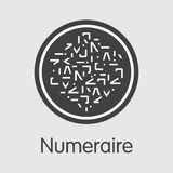 Numeraire - Cryptographic Currency Pictogram. Stock Photos