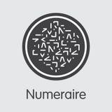 Numeraire - Kryptopgraficzny waluta piktogram Zdjęcia Stock