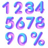 numerais do vetor 3D Foto de Stock Royalty Free