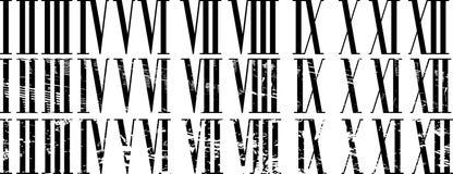 Numerais romanos Foto de Stock Royalty Free