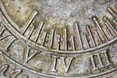 Numerais romanos Fotografia de Stock Royalty Free