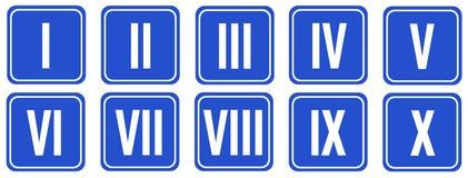 Numerais romanos Imagem de Stock Royalty Free
