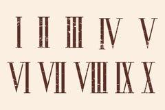 Numerais romanos ajustados ilustração royalty free