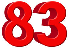 Free Numeral 83, Eighty Three, Isolated On White Background, 3d Rende Stock Image - 87371521