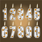 Numeral basketball birthday candles Stock Image