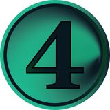 Numeral button-four Stock Image