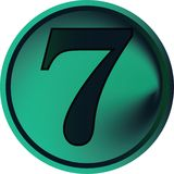 Numeral button-seven Stock Photography