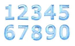 Numeral de vidro azul Imagens de Stock
