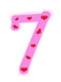 Numeral do dia do Valentim - 7 Imagens de Stock