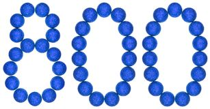 Numeral 800, eight hundred, from decorative balls, isolated on w Stock Photography
