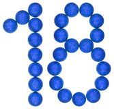 Numeral 18, eighteen, from decorative balls, isolated on white b Royalty Free Stock Images