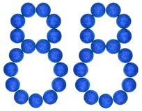 Numeral 88, eighty eight, from decorative balls, isolated on whi Royalty Free Stock Photography