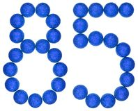 Numeral 85, eighty five, from decorative balls, isolated on whit Stock Images