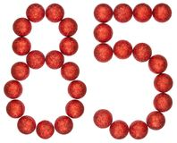Numeral 85, eighty five, from decorative balls, isolated on whit. E background Royalty Free Stock Photo