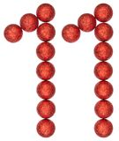 Numeral 11, eleven, from decorative balls, isolated on white bac Royalty Free Stock Photo