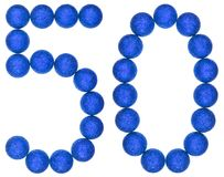 Numeral 50, fifty, from decorative balls, isolated on white back. Ground Stock Images