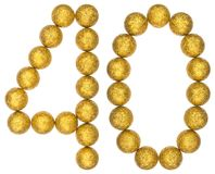 Numeral 40, forty, from decorative balls, isolated on white back Stock Photos