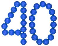 Numeral 40, forty, from decorative balls, isolated on white back. Ground Royalty Free Stock Image