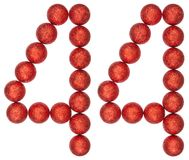 Numeral 44, forty four, from decorative balls, isolated on white Royalty Free Stock Photography