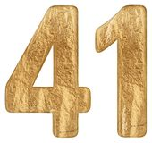 Numeral 41, forty one, isolated on white background, 3d render.  royalty free stock images