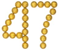 Numeral 47, forty seven, from decorative balls, isolated on whit. E background Stock Photography
