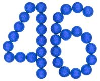 Numeral 46, forty six, from decorative balls, isolated on white Stock Photos