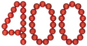 Numeral 400, four hundred, from decorative balls, isolated on wh. Ite background Stock Photography