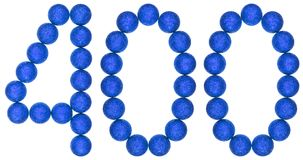 Numeral 400, four hundred, from decorative balls, isolated on wh Royalty Free Stock Photo