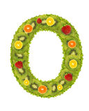 Numeral from fruit - 0 Royalty Free Stock Photos