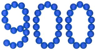 Numeral 900, nine hundred, from decorative balls, isolated on wh Royalty Free Stock Photography