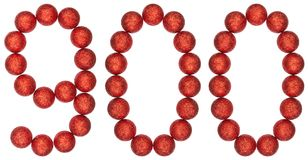 Numeral 900, nine hundred, from decorative balls, isolated on wh. Ite background Royalty Free Stock Photo