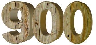 Numeral 900, nine hundred, isolated on white background, 3d rend. Er stock illustration