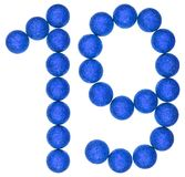 Numeral 19, nineteen, from decorative balls, isolated on white b Royalty Free Stock Photography