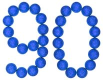 Numeral 90, ninety, from decorative balls, isolated on white bac Stock Photos