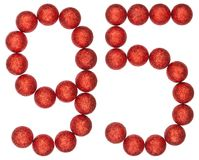 Numeral 95, ninety five, from decorative balls, isolated on whit. E background Royalty Free Stock Image