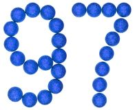 Numeral 97, ninety seven, from decorative balls, isolated on whi Stock Photos