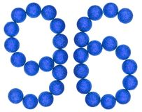 Numeral 96, ninety six, from decorative balls, isolated on white Royalty Free Stock Photos
