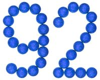 Numeral 92, ninety two, from decorative balls, isolated on white Stock Images