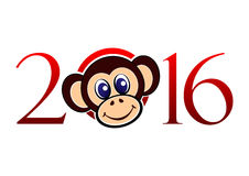 Numeral 2016 no vetor isolado no fundo branco Ano novo feliz 2016! Imagens de Stock Royalty Free