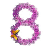 Numeral or number 8 Stock Photo