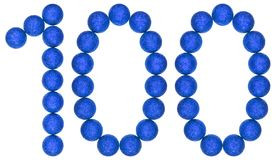 Numeral 100, one hundred, from decorative balls, isolated on whi Royalty Free Stock Image