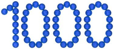 Numeral 1000, one thousand, from decorative balls, isolated on w Royalty Free Stock Photo